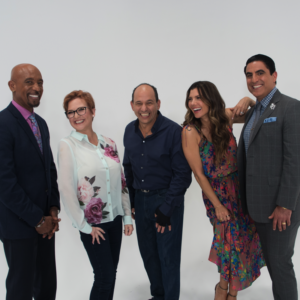 The Balancing Act crew together featuring Montel Williams