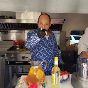 Ralph Pagano in an airstream for Ralph On The Road aired on Lifetime and A&E